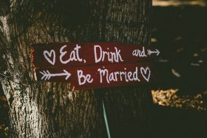 small wedding signpost budget